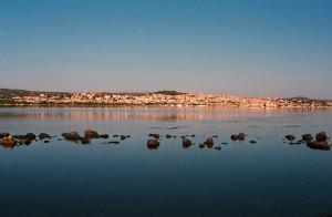 Sant Antioco, lagune van sant antioco op sardinie