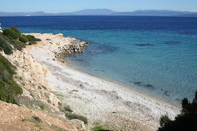 lange zandtong langs de oostkust van het schiereiland, stranden sant antioco